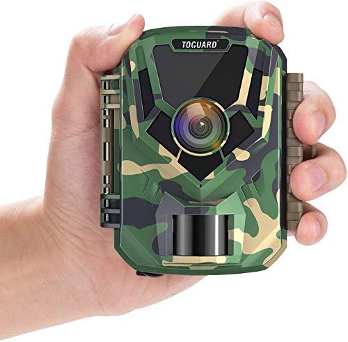 TOGUARD Mini Wildkamera FHD 1080P Jagdkamera mit IR Nachtsicht, 2 Zoll LCD Bildschirm Klein Jagdfalle Kamera 16MP 120° Weiter Winkel Wasserdicht Bewegungsmelder