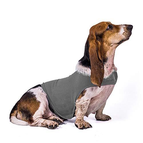 Generic Brands Hunde Beruhigungsweste, Hunde Hundemantel zur Angstbekämpfung, Hund Anxiety Shirt Stressabbau Beruhigender Mantel für kleine, mittlere und große Hunde, Dunkelgrau, L