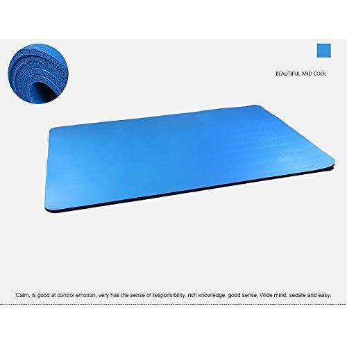 Romanticngt 30mm Superdick NBR Yoga-Matte Super Wide und Super High Density-Yoga-Matten Anti-Rutsch-Gymnastikmatte mit Trageschlaufe for Yoga Pilates - 183 * 61 * 3,0 cm - 2 Farben (Color : Blau)