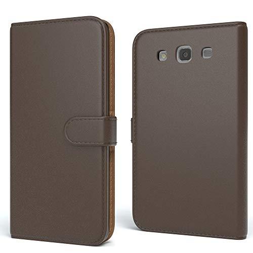 EAZY CASE Tasche für Samsung Galaxy S3 / S3 Neo Schutzhülle mit Standfunktion Klapphülle im Bookstyle, Handytasche Handyhülle Flip Cover mit Magnetverschluss und Kartenfach, Kunstleder, Braun