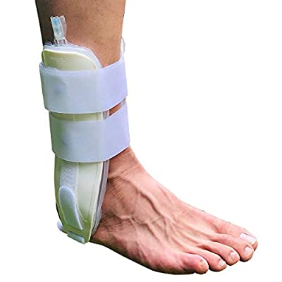 Orthomen Air Gel Ankle Stirrup Brace, One Size Fits Most (White)