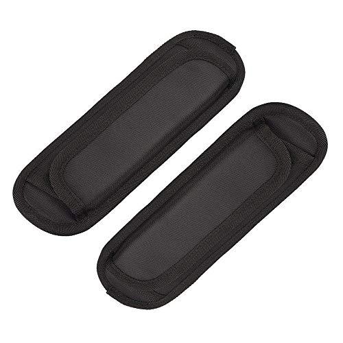 REYOK Abnehmbare Schultergurt Auflage Weiche Luftkissen Ersatz- Schultergurt Pad, 22 x 6.5 cm (Schwarz 2Pcs)