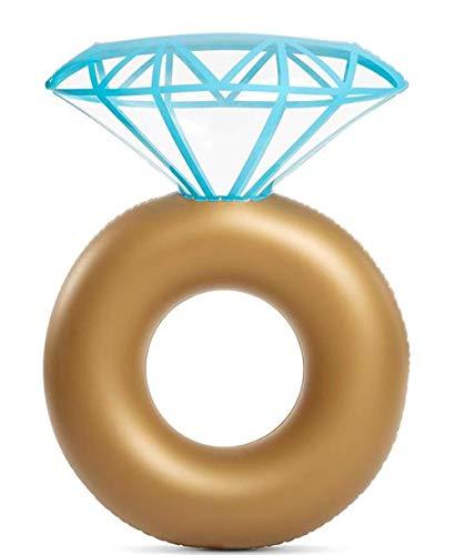 WYFDM Anillo de Diamante Inflable Flotador para Piscina - Anillo de Compromiso Fiesta de Despedida de Soltera Estagador de natación al Aire Libre Salón Flotante para Adultos y niños