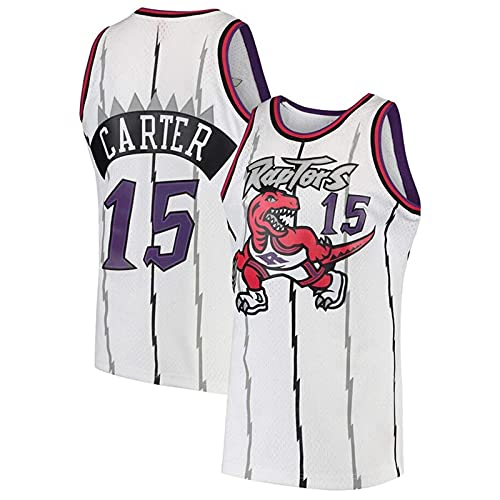 KKSY Camiseta Vince Carter #15 Retro NBA Jersey Toronto Raptors Basketball Jersey,B,S