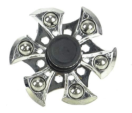 TOYLAND Spinarooz Hand Spinner Novelty Toy - Fidget Spinner - 3 en 1 - Salto, Rebote, Giro - Plata
