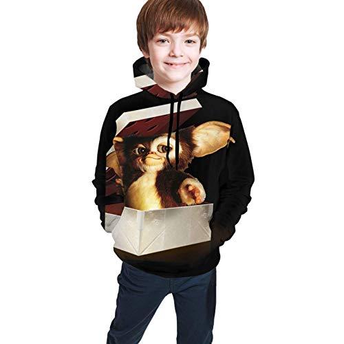 Danicary Suéter con Capucha para niños y niñas Adolescentes, Suelta, cómoda, Transpirable, Informal Gremlins M