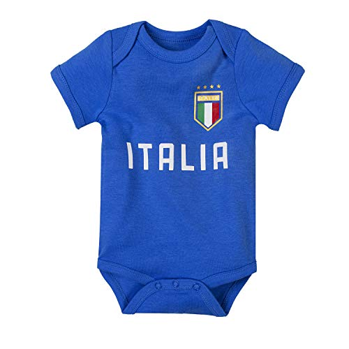 Unisex Newborn Italy Soccer Onesies Baby Outfits Short-Sleeve | Infant Boys Girls Italian Onesie Bodysuit (ITS-blue, 0-3 Months)