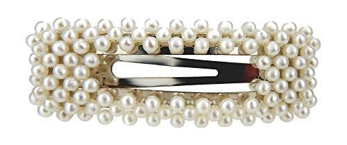 Ella Jonte große Haarklemme Perlen weiß silber Haarklammer Haarspange Trend