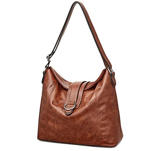 S-ZONE Women Large Hobo Bag Soft Shoulder Tote Handbags Vegan Leather