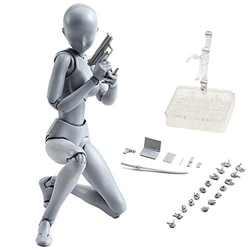 Figuras de acción B/C Body-Kun DX y Body-Chan DX Modelo de PVC, modelo de articulaciones de gestos móviles para pintar colecciones de regalos, modelos de figuras de maniquí de dibujo para artistas