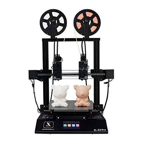 Impresora 3D de extrusora Doble Independiente XT-D3 Pro, Boquilla de Alta Temperatura de 300 Grados, Fuente de alimentación de 600 W, Soporte PVA TPU ABS PLA, 11.8