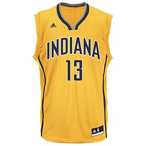 adidas Men's Replica Player Jersey NBA Replica Player Jersey, Yellow Alternate Flex