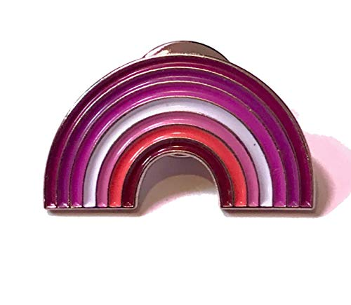 Lesbian Pride Rainbow Pin