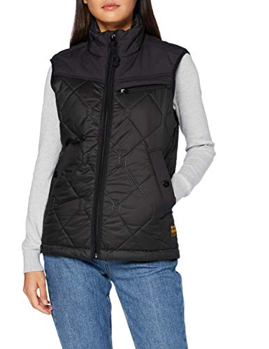 G-STAR RAW Mens Attacc heatseal Quilted HDD Vest Jacket, dk Black C470-6484, X-Small