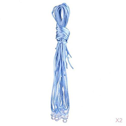 Harilla Paquete de 20 Piezas Lindo Chupete Colgantes Collares Premios del Juego Favores de La Ducha del Bebé - Azul Claro, Tal como se Describe