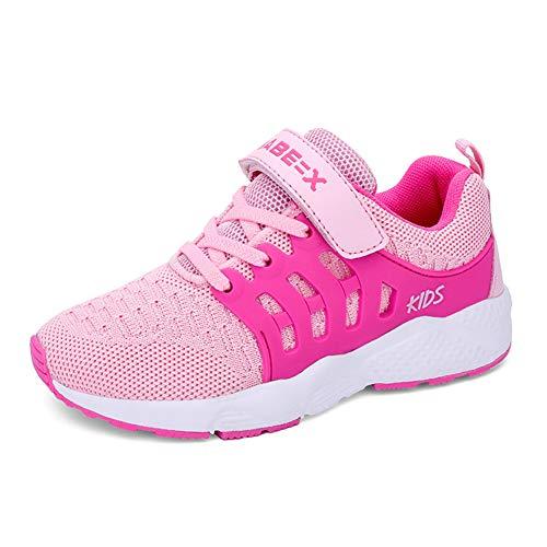 Ragazzi Scarpe da Corsa Scarpe da Ginnastica per Ragazze Scarpe Sportive per Bambini Sneakers Formatori Rosa 36 EU