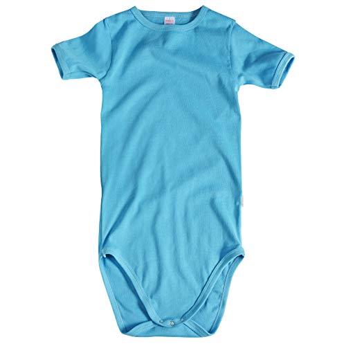 wellyou T-Shirt Body Kurzarm, Kinder Body in großen Größen für Jungen und Mädchen, türkis Größe 170