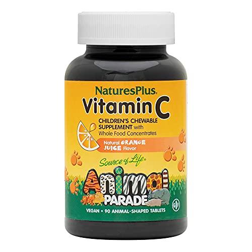 Nature's Plus Animal Parade Vitamina C per Bambini, 90 compresse