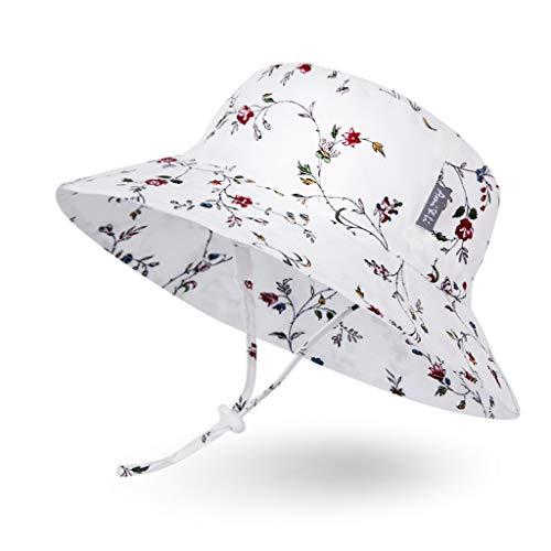 Ami & Li tots Mädchen Sonnenhut Eimer Einstellbar für Baby Mädchen Jungen Säugling Kind Kleinkind Hut Sonnenschutz UPF 50 Unisex