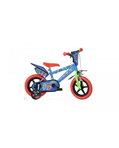 Dino- Bicicletta per Bambini Pjmasks 12' Nylon PJ Masks, 412UL-PJ