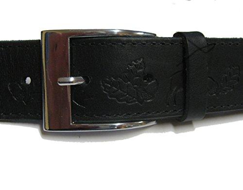 BBM-STYLE Motif chasse Chasseurs Costume Ceinture Noir Sattler estampé en cuir fait main sur mesure