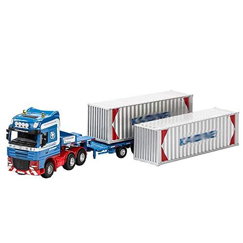 Xolye Aleación de niños Toy Coche Planificado Transportador Trailer Trailer Contenedor Camión Chico Juguete Modelo de camión Pesado