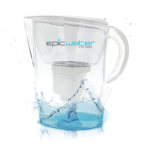 Epic Pure Water Filter Pitcher | White | 3.5L | 150 Gallon Filter | 100% BPA-Free | Removes Fluoride, Lead, Chromium 6, PFOS PFOA, Heavy Metals, Pesticides, Chemicals, Industrial Pollutants & More