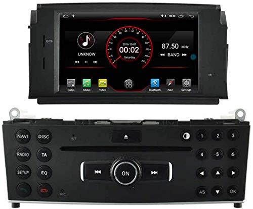 FWZJ Autosion Android 10 Car DVD Player GPS Stereo Head Unit Navi Radio Multimedia WiFi para Mercedes Benz C Class W204 2007 2008 2009 2010 2011 Mercedes Benz C Class C180 C200 C220 Control del v