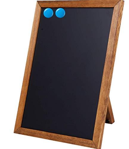 BESSO Chalkboard Signs – Stylish ProGrade Standing Deep Black Chalk Board 11 x 14 – Magnetic Rustic Slate Chalkboards Menu Board for Kitchen, Sign Board, or Sidewalk Sign. for Kids & Adults