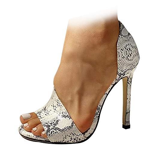 AOSPHIRAYLIAN Zapatos de tacón de aguja para mujer con punta abierta y tacón alto, color, talla 39.5 EU