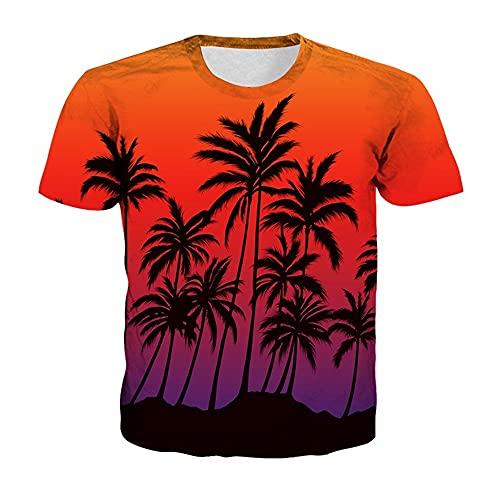 Camiseta Hombre Impresión 3D Novedad Creativa Patrón Único Cuello Redondo Manga Corta Moda De Verano Casual Suelta Cómoda Personalidad Hombres Camisa Deportiva TD02 XL