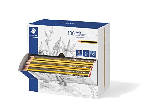 STAEDTLER 120HBCA1 PST - Caja expositora con 100 lápices Noris de graduación HB, Negro