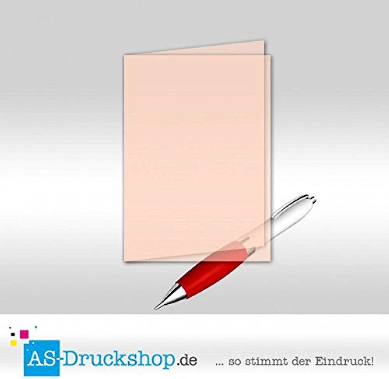 Faltkarte Doppelkarte aus Transparentpapier - Weiss matt 50 Stück DIN B6 B0794WZ677 | Bekannt für seine hervorragende Qualität