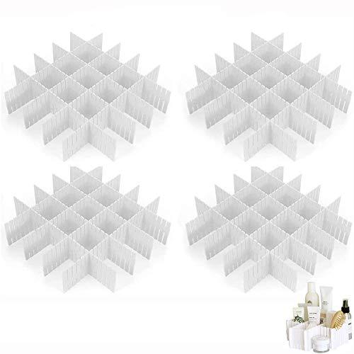 Trennwand für Schubladen, 12 Stück Trennwände für verstellbare Schubladen aus Kunststoff, Organizer für Büro, Bad oder Schlafzimmer (weiß)