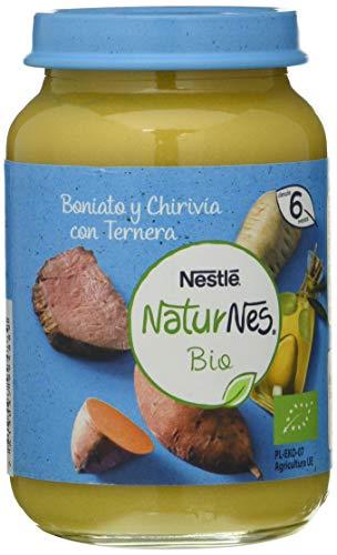Nestlé Naturnes Bio Pure Boniato Chirivía Ternera Para BebésDesde 6 Meses - Pack de 12 tarritos 190g