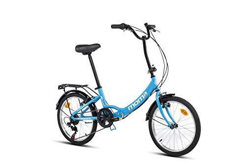 Moma bikes First Class II Blue, Bicicletta Pieghevole Unisex Adulto, Blu, Unic Size