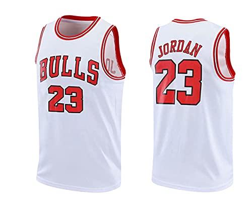 wsetrtg Jersey Bulls Masculino Campeón de la NBA Vintage Michael Jordan Jersey Chicago Bulls # 23 Jersey de Baloncesto Swingman de Malla Transpirable Fresco Chaleco De Gimnasia Camiseta Deportiv