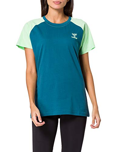 hummel Action Cotton - Camiseta de algodón para Mujer, Mujer, Camiseta, 211003,...
