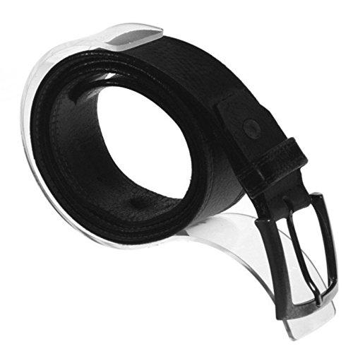 10 Gürtelhalter - Gürtelständer aus Acryl | Platzsparend - Stabil | Gürtel Aufbewahrung Halter für Schrank / Vitrine