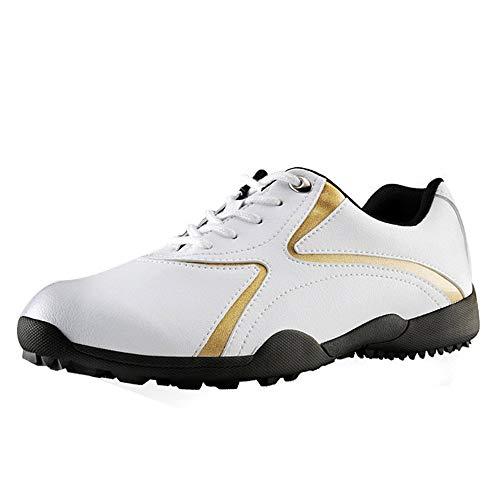XFQ Zapatos del Golf De Las Mujeres, Ocasional con Cordones De Las Zapatillas De Deporte del Golf Impermeable Spikeless...