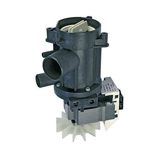 Pompa di scarico per lavatrice 90 Watt a sinistra Plaset 481936018189 481981728737 481981729088