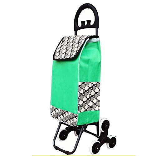 L.ORE Klettertreppen Einkaufswagen Ladewagen Kleinwagen Klappwagen Kinderwagen Wohnwagen Anhänger (Farbe: Grün)