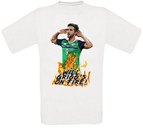 Will Grigg Will Grigg's on Fire Will Griggs on Fire T-Shirt (XXXL)