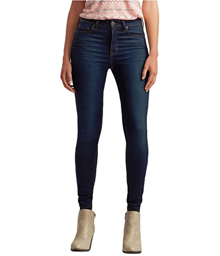 Aeropostale Womens High Waisted Jeggings, Blue, 0 Short