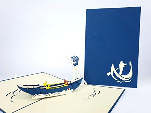 Venise gondole Marine di San Marco Italie 3d Pop Up Cartes de vœux Anniversaire bébé anniversaire de Pâques Halloween Mother's pères New Home Nouvel An Thanksgiving Saint Valentin Mariage de Noël