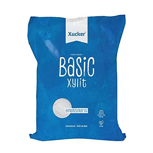 Xucker Basic aus Xylit Birkenzucker - 1kg Nachfüllbeutel - kalorienreduzierter Zuckerersatz I Vegane & zahnfreundliche Zucker-Alternative zum Kochen & Backen I natürliche Süße zuckerfrei