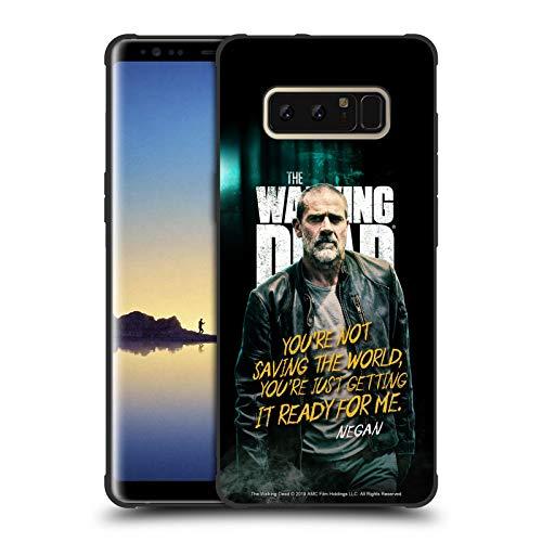 Head Case Designs Offizielle AMC The Walking Dead Negan Staffel 9 Zitate Schocksichere Matt Schwarze Handyhulle Hulle Huelle kompatibel mit Samsung Galaxy Note8 Note 8