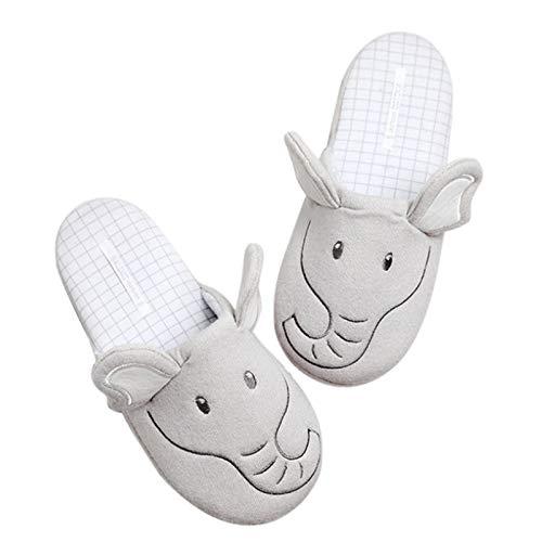 Zapatillas De Algodón Antideslizantes Zapatos De Peluche Pantuflas De Casa De Cálido Suave por Casa Cálidas Y Cómodas Interior Y Exterior Felpa Dormitorio Mujer Niñas Slippers,38~39