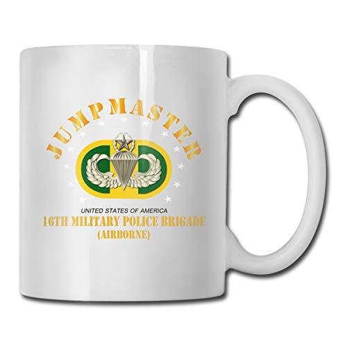 DSJRKSKEE 16th Military Police Brigade Jumpmaster Funny Gift Mug White Coffee Mug 11 Oz