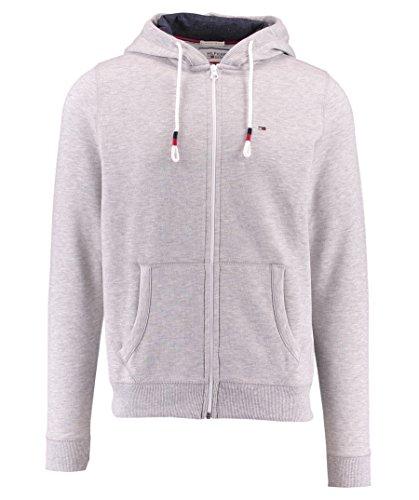 TOMMY HILFIGER DENIM - Original Zipthru Hknit L/S, Camisa De Pijama de hombre, gris, XL